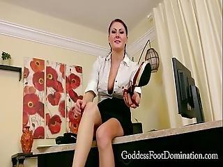 Office Footboy With Goddess Stella