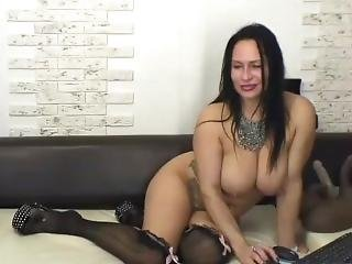 Milf Jumping On A Huge Dildo