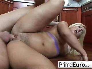 Czech Babe Janet Is Fucked In The Kitchen