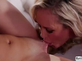 Hot Teen Elsa Jean And Milf Brandi Love Insane Lesbi Sex