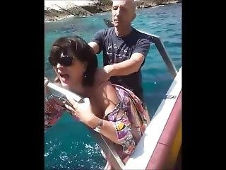 reife nackt auf dem boot