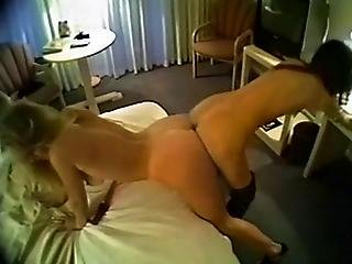 Giant Double Ended Dildo Fills Up The Pussies Of These Beautiful Thin Lesbians