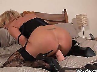 Mature British Pornstar Jane Bond In Stockings