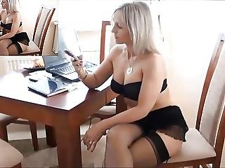 Legs, Lingerie, Mature, Milf, Pornstar, Stocking