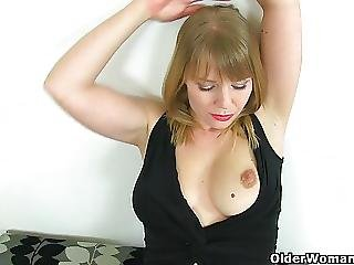 British Milfs Abi And Holly Masturbate In Black Stockings