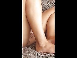 Upskirt Of Unaware Wife On The Couch