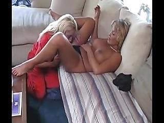 Young Sales Woman Test Products On A Beautiful Older Woman