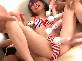 Ryo Kaede Surprised At The Spa With Vibrators That Toy Her Bikini Clad Body