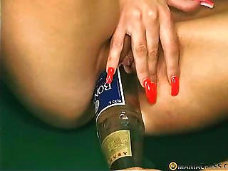 Beer, Bottle, Fisting, Lesbian, Mature, Pussy, Sex, Shaved
