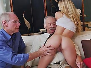 Three Perverted Old Vs Young Blonde Innocent Teen