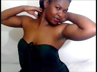 Cute African Milf Flexes Really Good Biceps