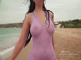 My New Transparent Swimsuit