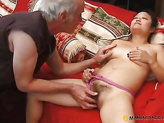 A Stud Touches Her Hirsute Aperture