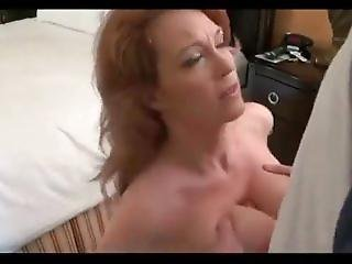 Busty Milf Agrees To Handjob And Tit Fuck To Keep Her Daughter Out Of Porn