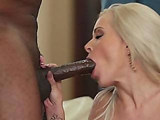 Husband Watching Horny Blonde Wife Doggy Fucked By Bbc