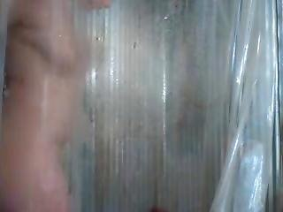 Blondie In Shower Masturbating