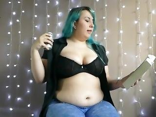 Bbw Burping With A Open Blouse