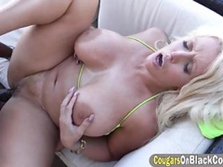 Delicious Blonde Milf With Massive Melons And A Bbc