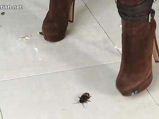 Jocelyn Crushes Roaches In Her Sexy Boots!