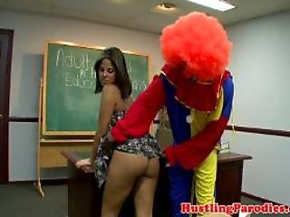 Blowjob, Clown, Fucking, Hardcore, Latina, Oral, School, Sex, Sucking, Teacher