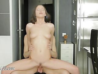Sweet 18yo Chick Beauty Deeply Anal Fucked