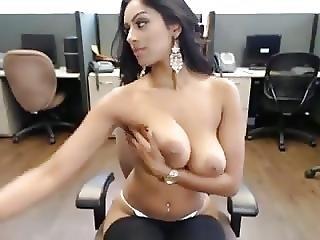 på arbejde, babe, finger, onani, voyeur, webcam, arbejdsplads