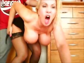 Hair Pulled Hard As My Huge Milf Tits Bounce Doggy Style