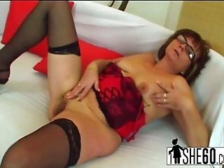 Nerdy Old Granny Jana Invites A Younger Dude Over To Visit But When He Arrives She Seduces Him Into Fucking Her In Many Different Positions Until Reaching Explosive Satisfaction