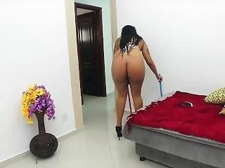 brasileira, fetishe, empregada