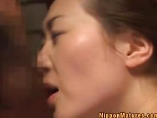 Japanese Asian Mama Gets Ravaged