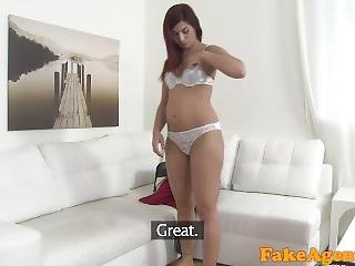 Fakeagent Hot Red Haired Babe Fucked Hard On Casting Couch