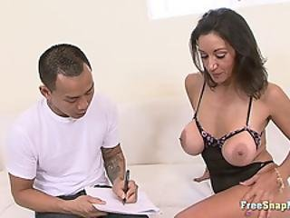 Big Tit Cougar Loves Asian Dick