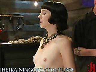 Slave Gets Het Tits Twisted