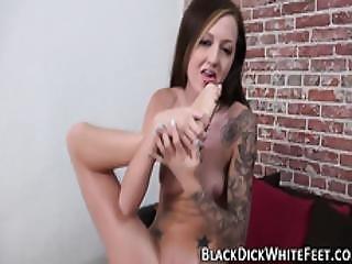 Babe Jerks Black Cock