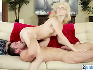 Hot Skinny Teen With Glasses Enjoys Getting Banged And Facialized