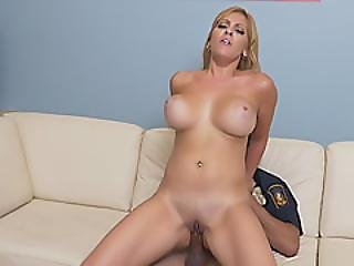 Horny Milf With Big Tits Loves To Jump On Police Officers Cock