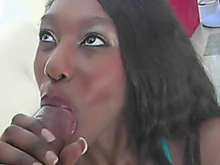 Black Hottie Faith Love Takes A Big Cock In Her Young Butt