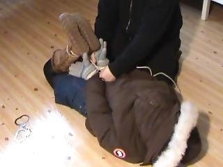 Hogtied In Winter Clothes Mem 2