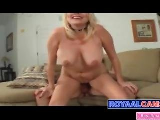 Horny Stepmom Wants To Suck And Fuck Her Son When Tired