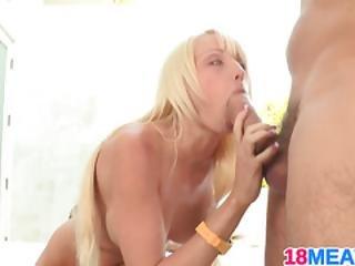 Petite Blonde Teen Rikki Six Gets It
