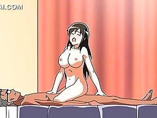 Busty Naked Anime Babe Sucks And Fucks Hard Cock