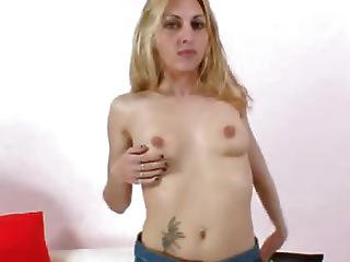 Filthy Blond-haired Sam Spreader Pussy Gape
