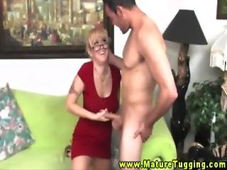 Mature Milf Needs Cock In Her Hands To Feel Better About It