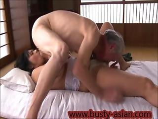 Young Busty Asian Girl Seduced By Old Man