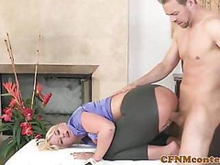 Lady Pounded While Keeping Her Pants On