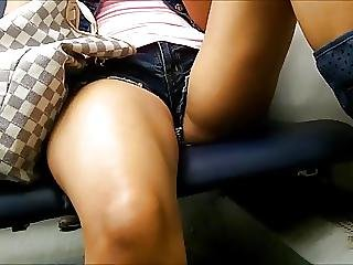 Candid Hot Legs In Traine