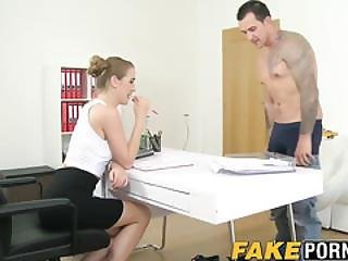 Pretty Female Casting Agent Alexis Rides Her Clients Dick