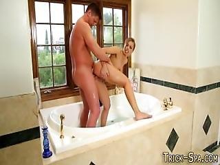 Bathing Masseuse Spunked