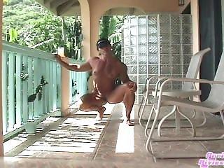 Nude Deck Posing Muscle