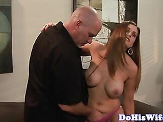 Real Milf Riding Cock During Cuckold Session